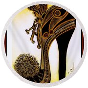 High Heel Heaven Round Beach Towel