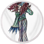 High Ogre Elessidia Round Beach Towel