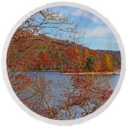 Round Beach Towel featuring the photograph High On The Mountain by HH Photography of Florida