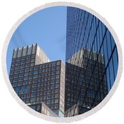 High Rise Reflection Round Beach Towel