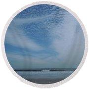 High Sky Round Beach Towel