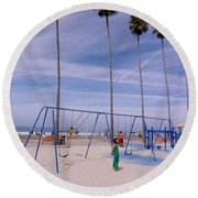 Higher  Round Beach Towel by Susan Garren