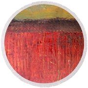 Highway Series - Cranberry Bog Round Beach Towel by Michelle Calkins