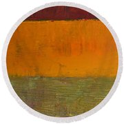 Highway Series - Grasses Round Beach Towel
