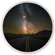 Highway To Heaven Round Beach Towel