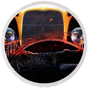Round Beach Towel featuring the photograph Highway To Hell by Gunter Nezhoda