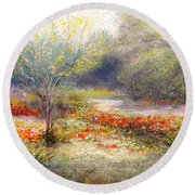 Hill Country Wildflowers Round Beach Towel