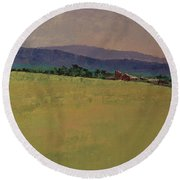Hilltop Farm Round Beach Towel