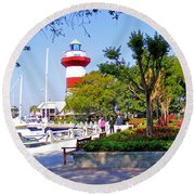 Hilton Head Lighthouse Round Beach Towel