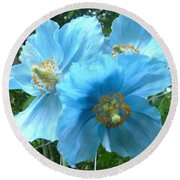 Himalayan Poppy Round Beach Towel