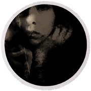 Round Beach Towel featuring the photograph His Amusement Her Content  by Jessica Shelton