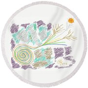 His Mastery's Voice Round Beach Towel by Mark David Gerson