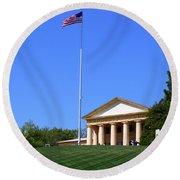 Historic Arlington House Round Beach Towel by Patti Whitten