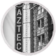 Historic Aztec Theater Round Beach Towel