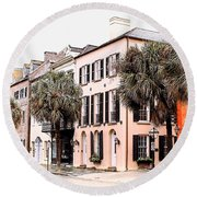 Historic Charleston Round Beach Towel