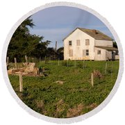 Historic D Ranch In Point Reyes California Dsc2357 Round Beach Towel