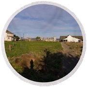 Historic D Ranch In Point Reyes California Dsc2366 Round Beach Towel