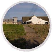 Historic D Ranch In Point Reyes California Dsc2369 Round Beach Towel