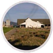 Historic D Ranch In Point Reyes California Dsc2399 Round Beach Towel