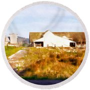 Historic D Ranch In Point Reyes California Dsc2399wc Round Beach Towel