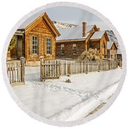 Historic Ghost Town Round Beach Towel