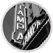 Historic Tampa Round Beach Towel