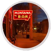 Historical Montana Bar Round Beach Towel