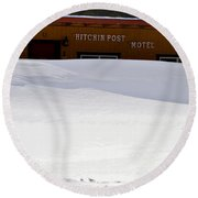 Hitchin' Post April Round Beach Towel