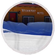 Hitchin' Post March Round Beach Towel