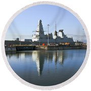 Hms Dauntless Round Beach Towel