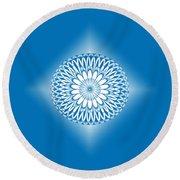 Hoberman Sphere Blue Round Beach Towel