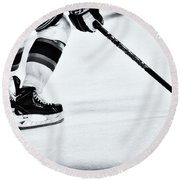 Hockey Is The Game Round Beach Towel