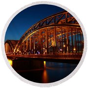 Hohenzollern Bridge Round Beach Towel by Mihai Andritoiu