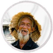 Hoi An Fisherman Round Beach Towel