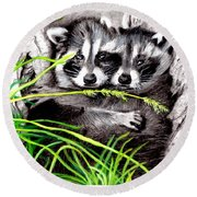 Hold Me Tight  Round Beach Towel