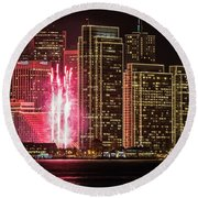 Holiday Lights Round Beach Towel