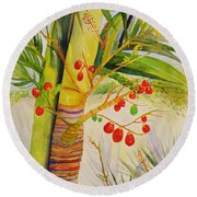 Holiday Palm Round Beach Towel