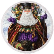 Holiday Riches Round Beach Towel