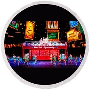 Holiday Sightseeing Round Beach Towel