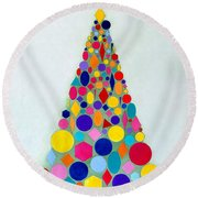 Holiday Tree #1 Round Beach Towel