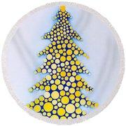 Holiday Tree #2 Round Beach Towel