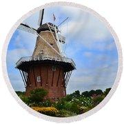 Holland Michigan Windmill Round Beach Towel