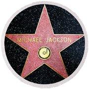 Hollywood Walk Of Fame Michael Jackson 5d28974 Round Beach Towel