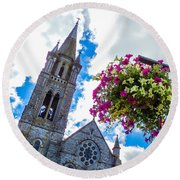 Holy Cross Church Steeple Charleville Ireland Round Beach Towel