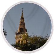 Round Beach Towel featuring the photograph Holy Tower   by Shawn Marlow
