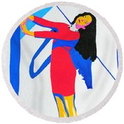 Homage To Carven Round Beach Towel