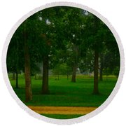 Round Beach Towel featuring the photograph Home Circle II by Lanita Williams