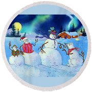 Home For The Holidays Round Beach Towel