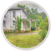 Round Beach Towel featuring the photograph Home Is Where The Heart Is by Liane Wright