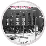 Home Of The Cardinals Round Beach Towel